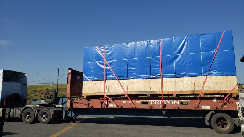 A logística para transporte de container