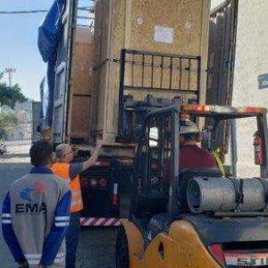 Descarga de container
