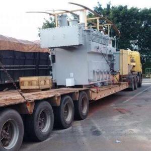 Prancha para transporte de maquinas pesadas