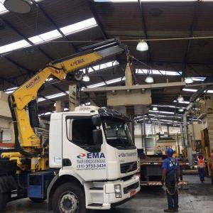 Remoção de maquinas e equipamentos