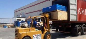 Carregamento de maquinas pesadas