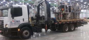 Carreta para transporte de transformador