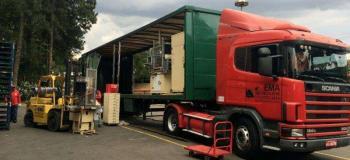 Transportadora com carreta sider